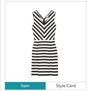 Stitch Fix Pixley Breonna Black White Stripe Dress